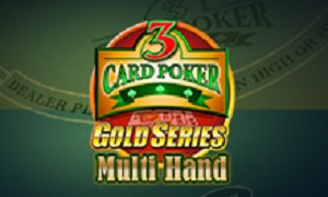 Multi-Hand 3 Card Poker Gold