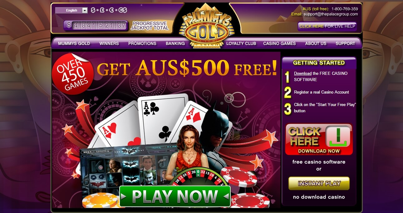 Play The Mummy online slots at Casino.com