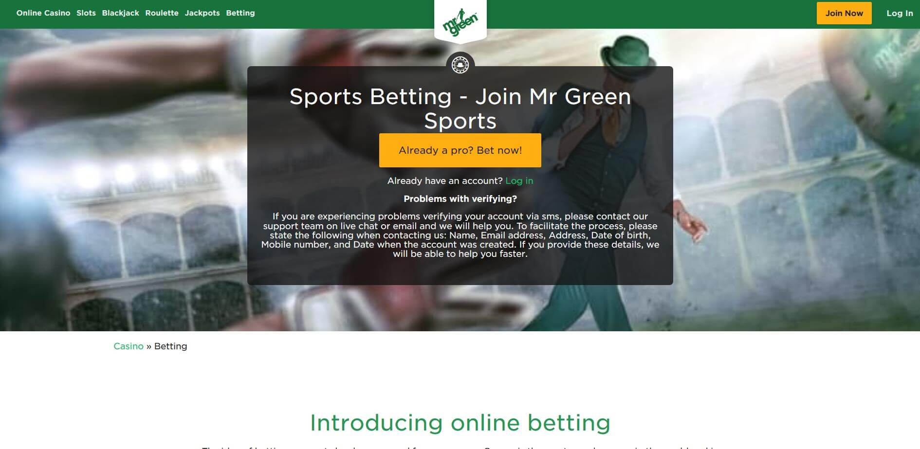 Mr Green Casino Bonuses 2019